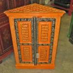 orange corner cabinet