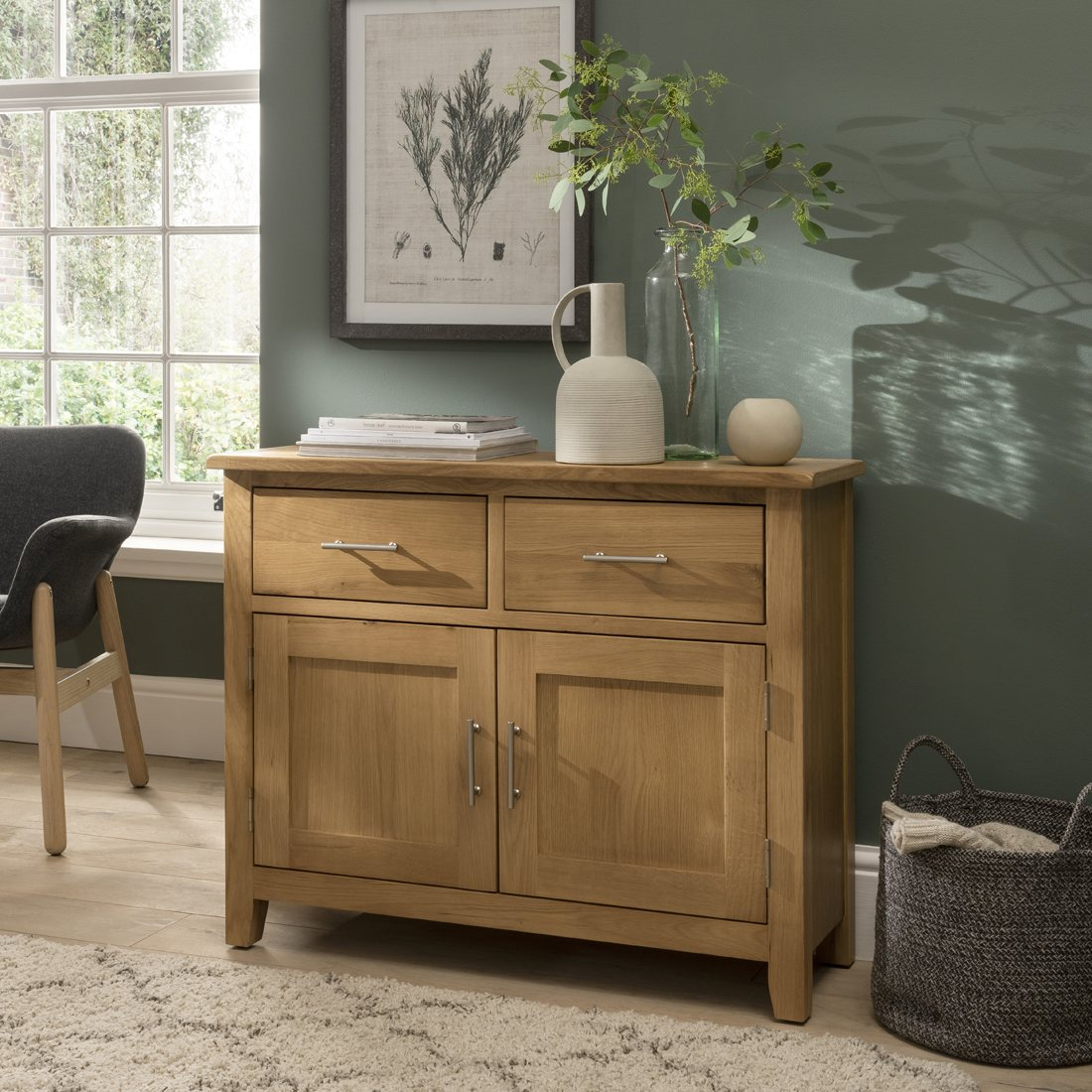 Sideboard Modern Oak City - Nebraska Modern Oak 2 Door 2 Drawer Sideboard - Furniture World