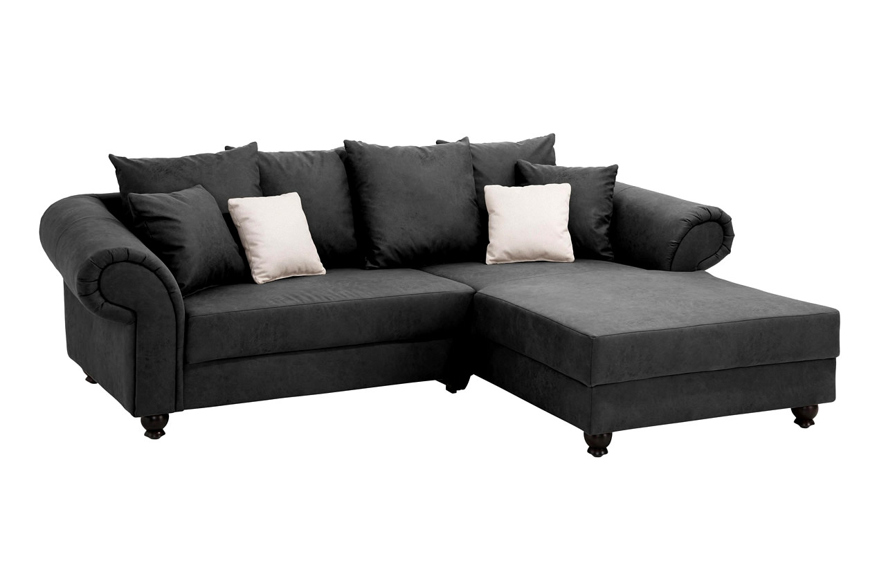 King George Sessel Newlook Ecksofa King George Rechts Antik Schwarz