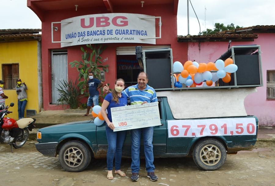 UBG entrega prêmio de mais de 67 mil para apostador de Guaratinga 23