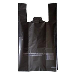 Sac bretelle réutilisable noir 26+12x45 cm