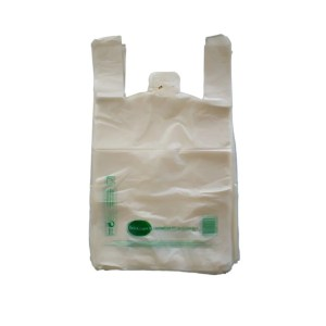 Sac biodégradable à bretelles 26+12x45 cm