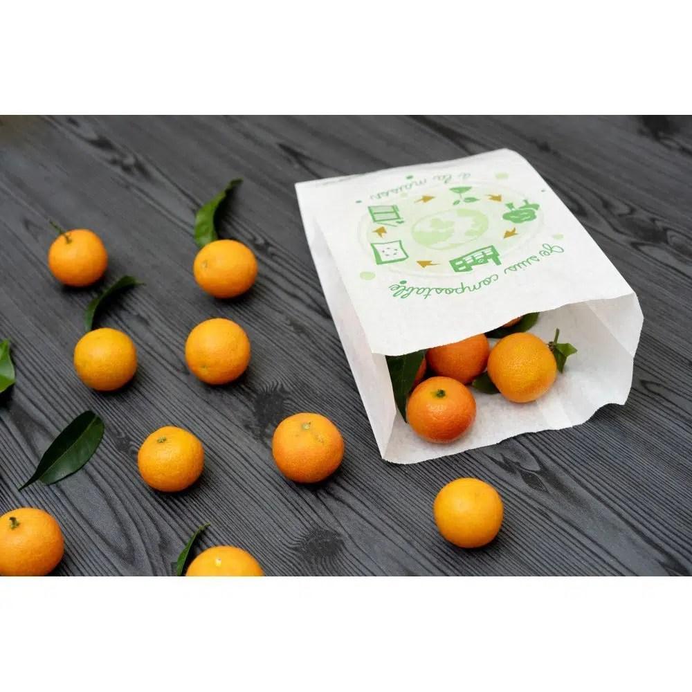 Sachet papier Home Compost avec oranges