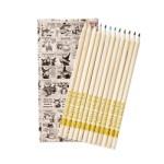猫のダヤン ダヤンと仲間たちの大人のぬりえBOOK 【付録】 ダヤンのオリジナル色鉛筆(12色)