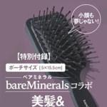 GINGER ジンジャー 2019年 2月号 【付録】 ベアミネラル コラボ 美髪 & スカルプケアブラシ