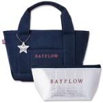 BAYFLOW LOGO TOTE BAG BOOK NAVY×RED 【付録】 BAYFLOW  トートバッグ、保冷ポーチ、チャーム