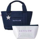 BAYFLOW LOGO TOTE BAG BOOK NAVY×PURPLE 【付録】 BAYFLOW  トートバッグ、保冷ポーチ、チャーム