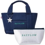 BAYFLOW LOGO TOTE BAG BOOK NAVY×GREEN 【付録】 BAYFLOW  トートバッグ、保冷ポーチ、チャーム