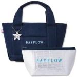 BAYFLOW LOGO TOTE BAG BOOK NAVY×BLUE 【付録】 BAYFLOW  トートバッグ、保冷ポーチ、チャーム