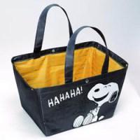 SNOOPYのレジカゴサイズ!ショッピングバッグBOOK 【付録】 SNOOPY ショッピングバッグ