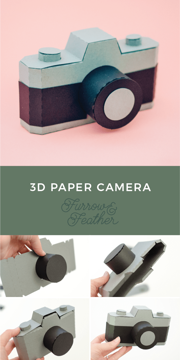 Silhouette Design Store 3D Paper Camera - Furrow and Feather