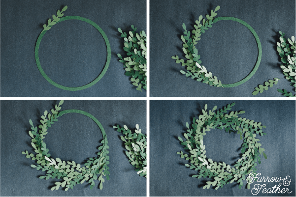 Silhouette Design Store Paper Boxwood Wreath - Furrow and Feather