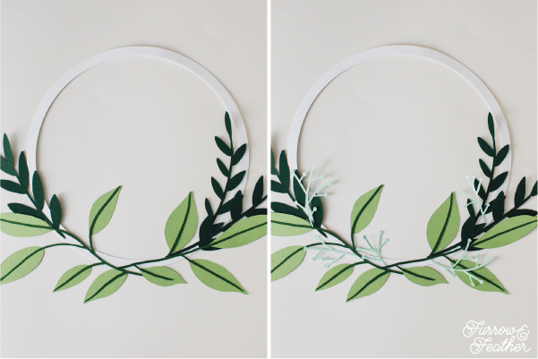 Paper Floral Wreath - Furrow and Feather, Silhouette Design Store