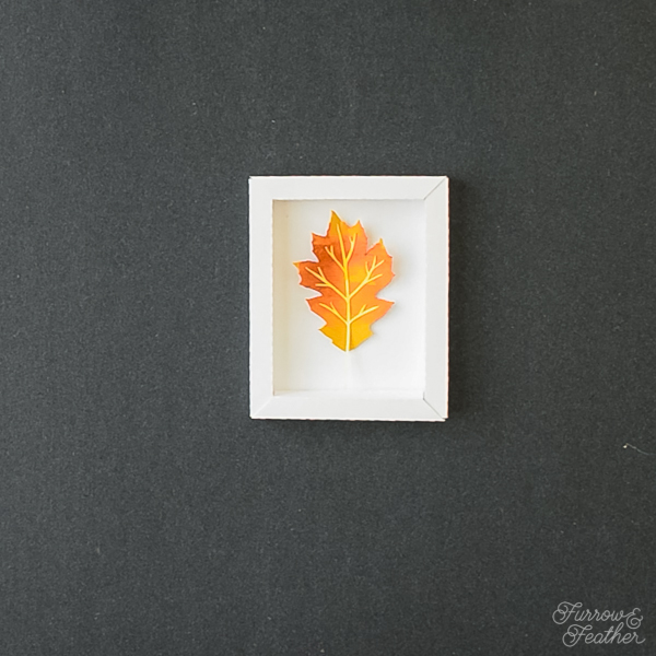 Watercolor Paper Leaves in Folded Frames - Furrow and Feather - Silhouette Design Store