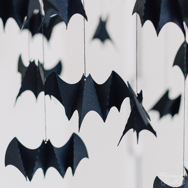 Hanging Bat Mobile - Furrow and Feather - A Silhouette CAMEO project