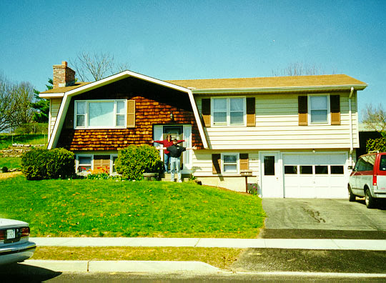 Our rental house in Essex Junction, VT -- May 16, 1998