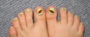 tutorial autumn leaves toenail