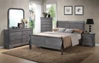 Louis Phillip Grey Bedroom Set - Furtado Furniture