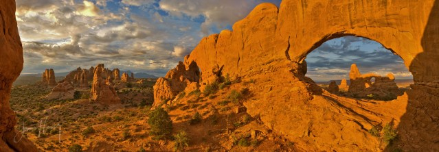 Panorama at North Window Arch