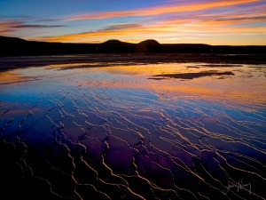 Grand Prismatic Spring at Sunset