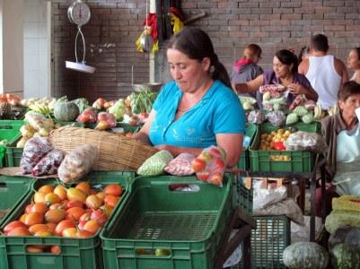 Vendedora de tomates y otras viandas