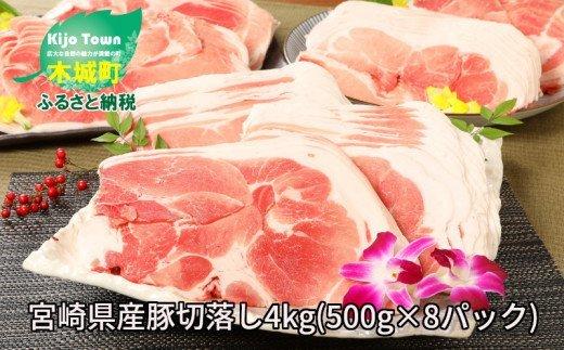 <宮崎県産豚切落し4kg(500g×8パック)> イメージ