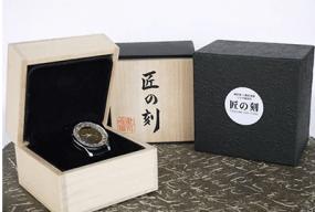 越前焼と越前漆器コラボ腕時計「匠の刻」