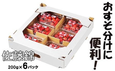 山形産さくらんぼ(佐藤錦)1.2kg(200g×6パック) イメージ