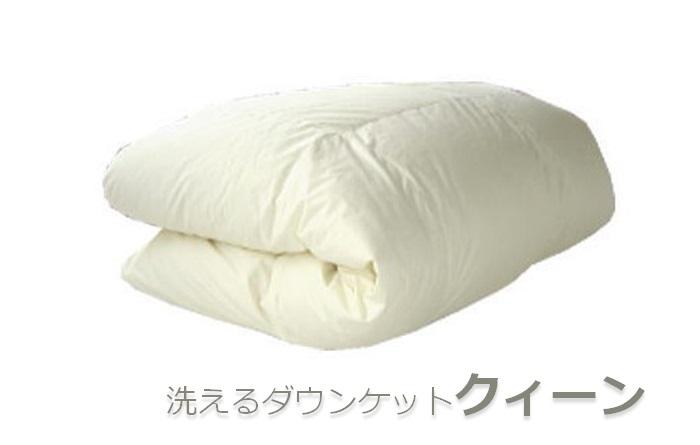 【クイーン】洗えるダウンケット(羽毛肌掛け) イメージ