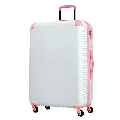 スーツケースABS7352(チルト)Lサイズ ホワイト×ピーチ イメージ