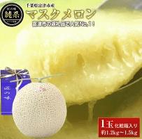 【最高級】純系マスクメロン1玉(化粧箱入) イメージ
