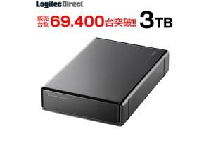 ロジテック HDD 3TB USB3.1(Gen1) / USB3.0 国産 TV録画 省エネ静音 外付け ハードディスク テレビ 3.5インチ 4K録画 PS4/PS4 Pro対応【LHD-ENA030U3WS】