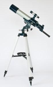 フリーストップ式経緯台で簡単操作できる対物レンズ50mm天体望遠鏡AZM-50