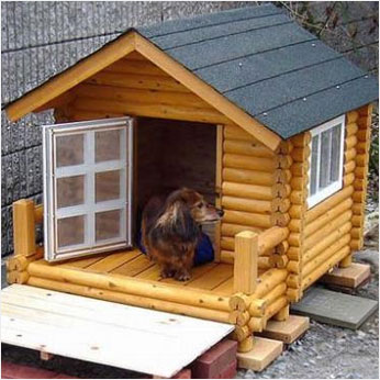 ログペットハウス 犬小屋 犬舎1000型 デラックス 小型犬用 イメージ