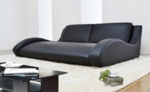 ローソファー[ジータ]2.5人掛け・全10色・脚を投げ出して座れる究極のくつろぎソファー ブラック