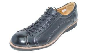 紳士革靴 YA3300倭イズム鹿革シューズ ブラック 26.0cm