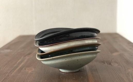 【瀬戸窯元 翠窯 1】翠窯の人気商品 カレー皿4色セット イメージ