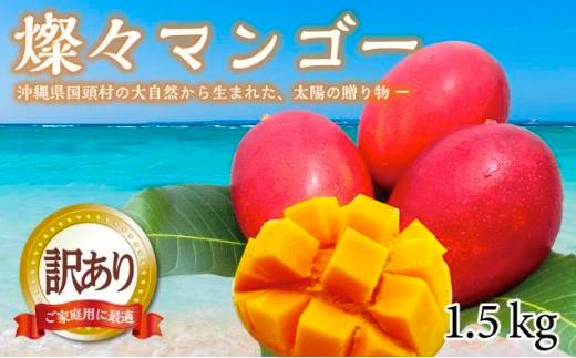 燦々マンゴー【訳あり品1.5Kg(3~6玉)】【2021年7月発送】 イメージ