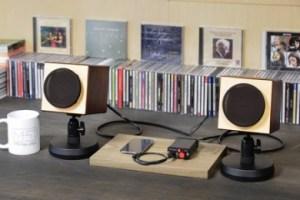 MH audio 小型アコースティックオーディオセット