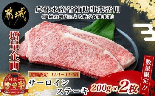 宮崎牛サーロインステーキ 200g×2枚 イメージ