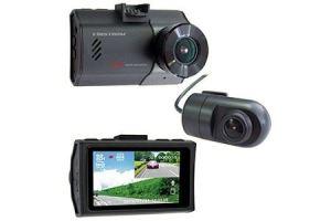 ドライブレコーダー 2カメラ 200万画素 FC-DR222WW