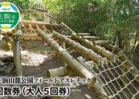 生駒山麓公園 フィールドアスレチック回数券(大人5回券)