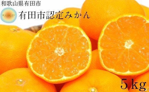 【日本初自治体認定フルーツ】有田市認定みかん(5kg)  イメージ
