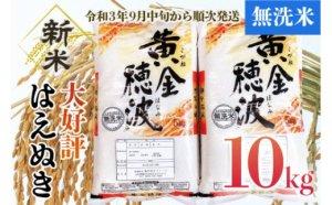 【令和3年産米】はえぬき無洗米10㎏(5kg×2袋)