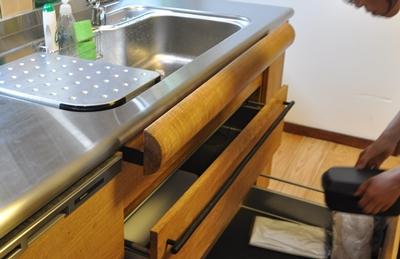 栗材 キッチン オリジナル