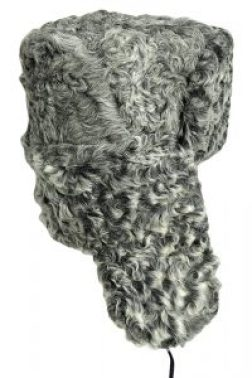 Grey Persian lamb ushanka
