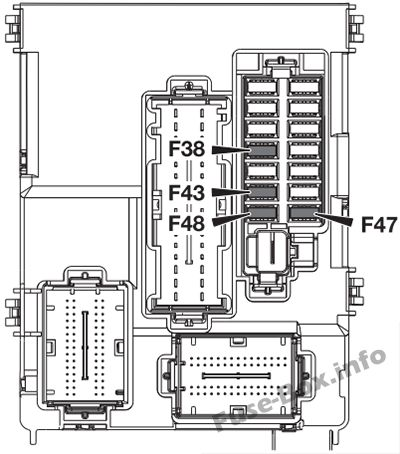 Fuse Box Diagram Alfa Romeo 4C (2013-2016)