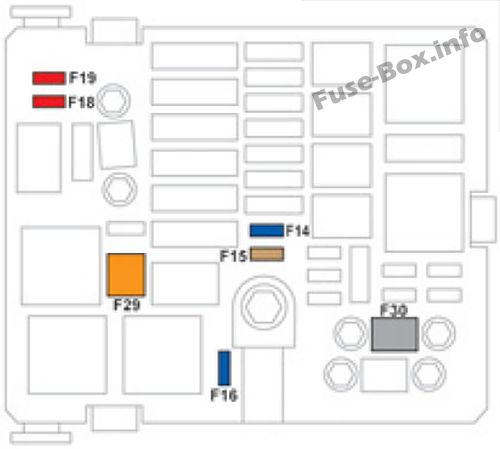 Fuse Box Diagram > Citroën C-Elysée (2012-2018)