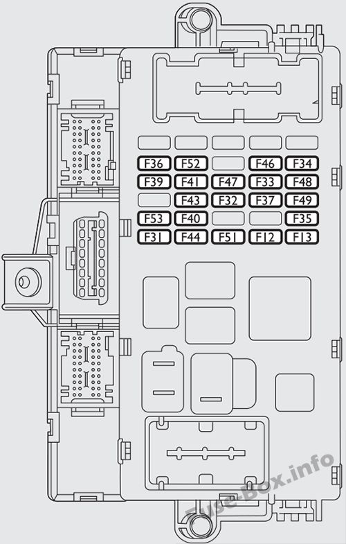 Fuse Box Diagram > Fiat Bravo (2007-2016)