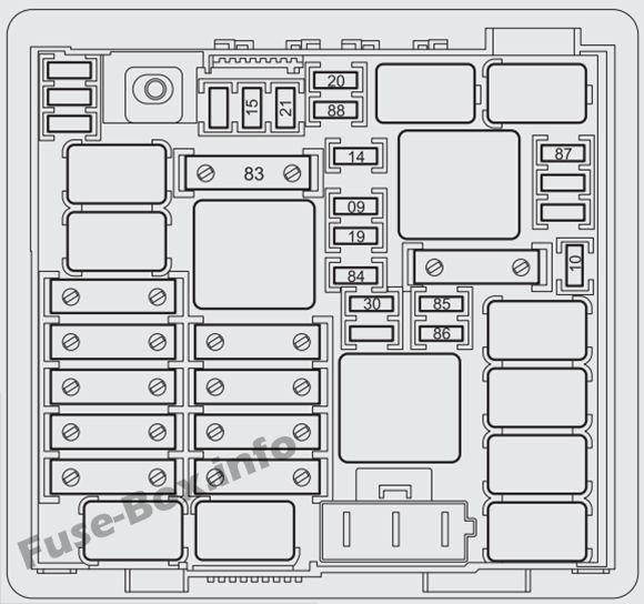 Fuse Box Diagram > Fiat Punto (2013-2018...)